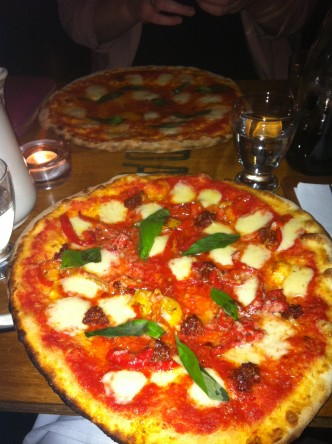 Margarita & Pizza with n'duja, peppers & provolone cheese