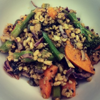 Squash & Mixed Grains salad