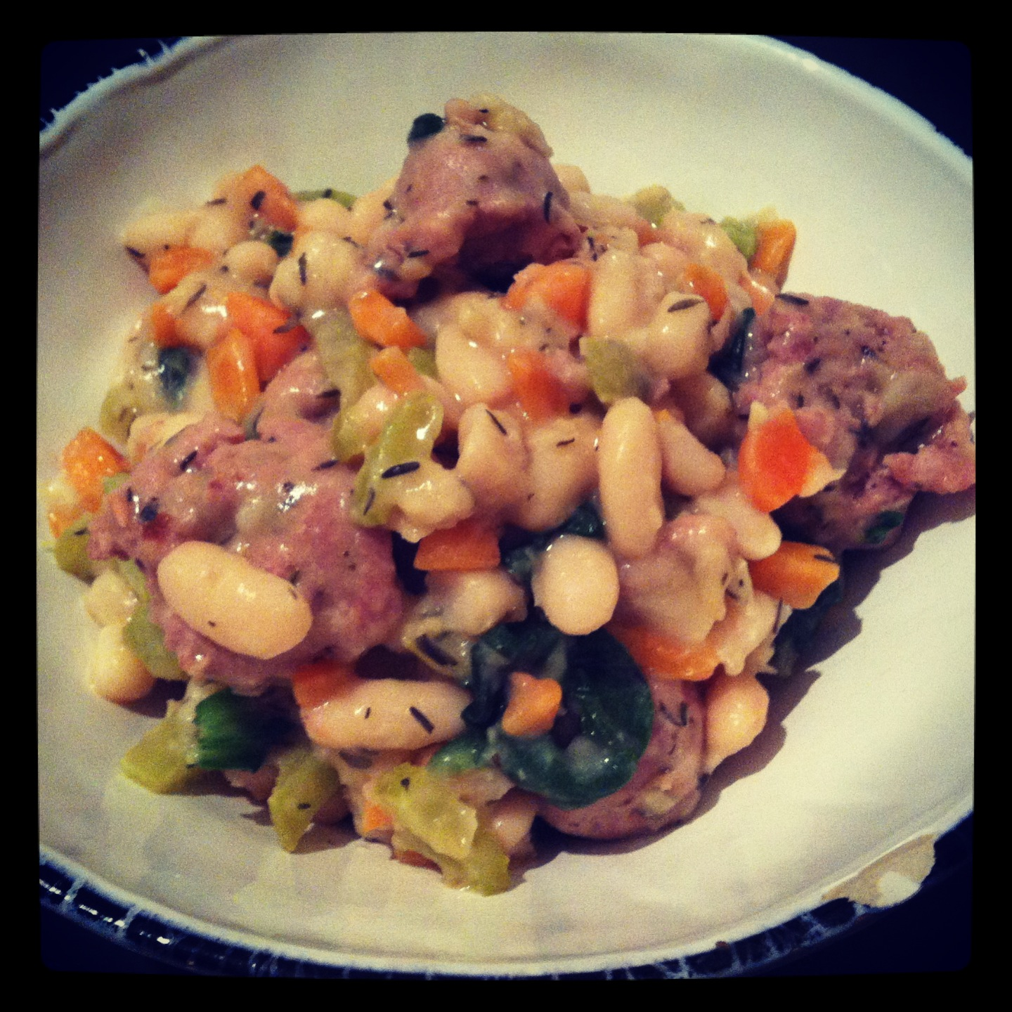 Cannellini Bean & Italian Sausage Stew - The Tiny Italian