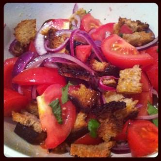 Add croutons 10 mins before serving.