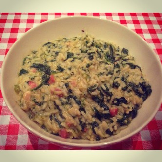 Rice, Spinach & Pancetta Soup