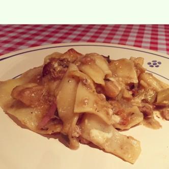 Artichoke & Sausage Lasagna