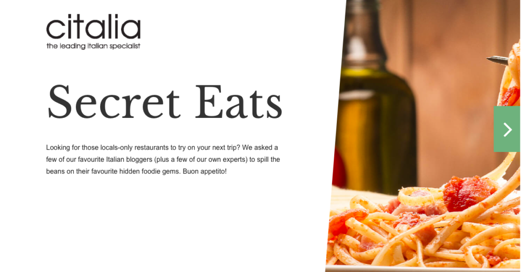 Citalia launches new Secret Eats campaign
