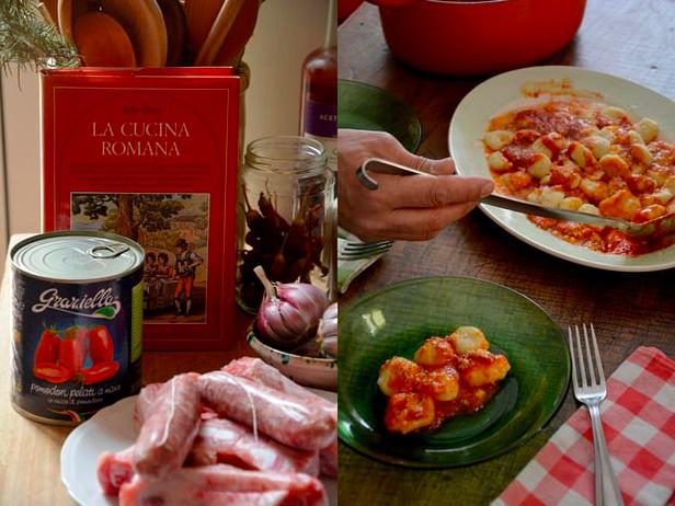 Rachel Roddy's recipe for pork rib and sausage sauce