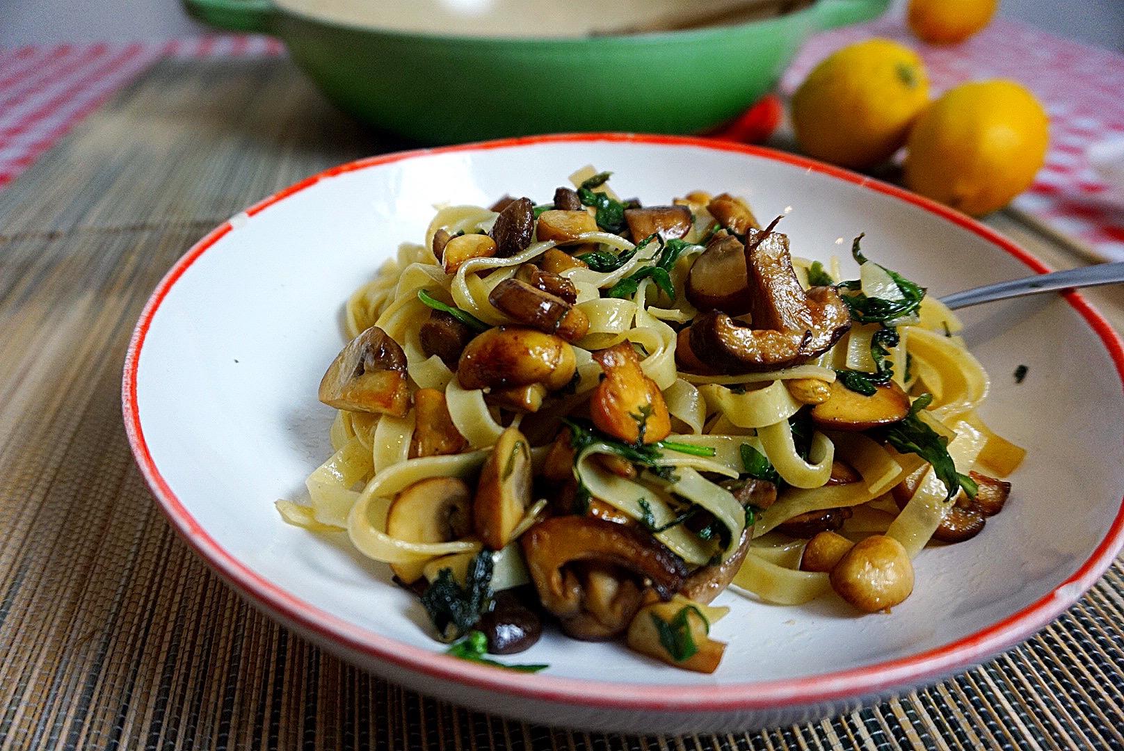 garlic mushroom pasta