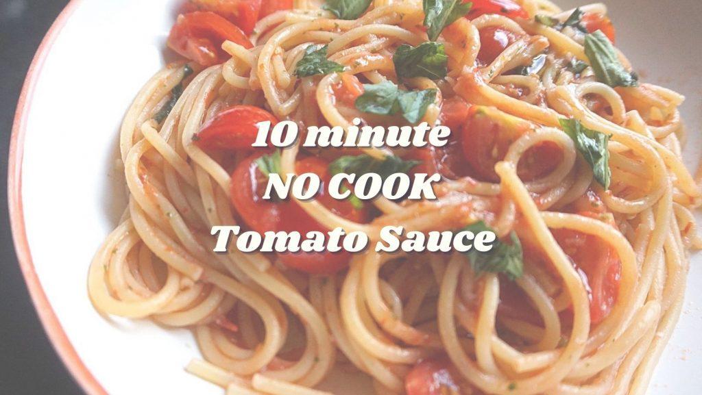 10 minute quick tomato sauce
