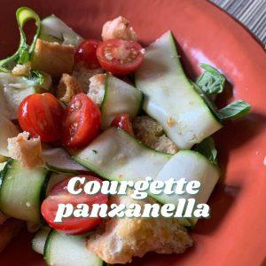 Courgette panzanella - Tiny Italian virtual Italian cook alongs this summer